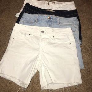 4 for 24 jean shorts American Eagle